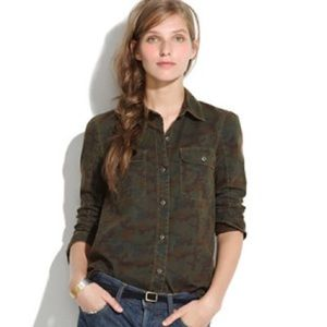Madewell Tomboy Camouflage button up